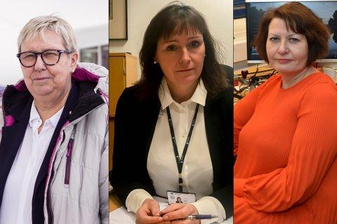 IVRIG: Ordfører i Vadsø, Wenche Pedersen (t.v.), mener Vadsø og Øst-Finnmark bør få den første lagmannsretten til Finnmark. Monica Nielsen i Alta og Helga Pedersen i Tana, er ikke enige.