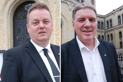 VENTER PÅ TUR: Runar Sjåstad og Geir Adelsten vil ikke ha den omstridte  stortingsvaksinen, begge venter på tur på hjemmebane, men der stopper enighet.