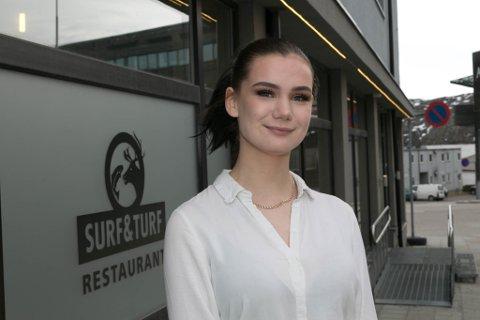 RESTAURANTEIER: Anne Midtkandal (20) er nå medeier i Surf & Turf.
