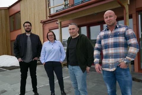 HELSEMENN: Ebou André Brandtzæg, Grethe Rasmussen, Geir Hansen og Dan-Robert Verneland, alle sentrale i Menn i helse-prosjektet i Sør-varanger.