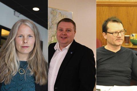SKARP KRITIKK: Utvalget har funnet mye grums i Troms og Finnmark SV. Her representert ved Kirsti Bergstø, Tommy Berg og Jan Olsen.