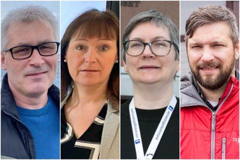 FORTSATT KORONASMITTE: Tre av Terje Wikstrøm (Ap), fungerende ordfører i Hammerfest, Monica Nielsen (Ap), ordfører i Alta, Mona Bergeng (Ap), ordfører i Sør-Varanger og Willy Pedersen (Ap), fungerende ordfører i Vadsø, har opplevd nye smittetilfeller i kommunen sin i løpet av det siste døgnet.
