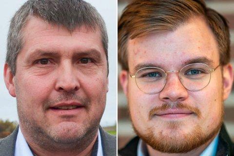 I NAKKEN: I InFacts måling i juni er det Fremskrittspartiets Bengt Rune Strifeldt (til venstre) som sikrer seg mandatet til stortingsplass. Høyres Vetle Langedahl puster imidlertid Strifeldt i nakken. Målingen viser at kun 234 skiller partienes oppslutning.