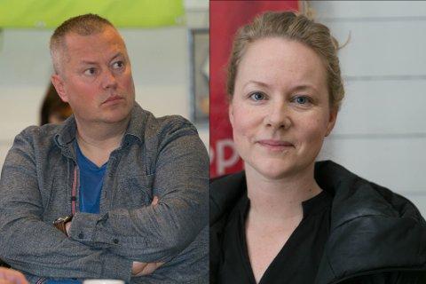 SP VS SV: Ronald Wærnes (Sp) og Amy Brox Webber er uenige i hva som er problemet og hva rett medisin er.