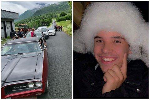 BILINTERESSE: Elias André Skoglund hadde stor interesse for biler. Sist torsdag kjørte familie, venner og kjente i kortesje for å vise ham  respekt.