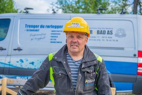 STARTET I 2006: Etter flere år hos andre bedrifter, valgte Stig Olav Murberg og kona å starte Rør og Bad AS i 2006.