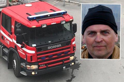 UHELDIG MED SØPPELBRENNING: Brannsjefen i Alta, Frank Pettersen (innfelt), håper folk slutter å bryte den kommunale forskriften.