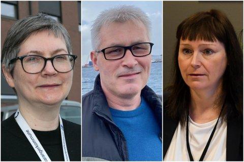 SMITTE: Ordførerne Lena Bergeng, Terje Wikstrøm og Monica Nielsen ser at flere av smittetilfellene i Finnmark nå kommer fra utlandet.