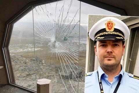 SKAPER STERKE REAKSJONER: Hærverket på turhytta på Storfjellet har skapt sterke reaksjoner i sosiale medier. Foto: Trond Ivar Lunga