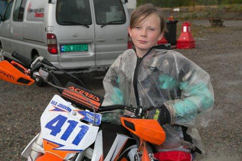 AILO: Ailo Johansen har kjørt motocross siden han var tre år. Nå er han elleve.