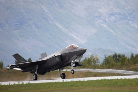 ØVELSE: Åtte F-35-fly har de siste ukene deltatt på øvelsen Falcon Deploy ved Evenes.