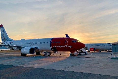 SMITTE: Det har vært smittede personer om bord tre Norwegian-fly til eller fra Alta den siste tiden.