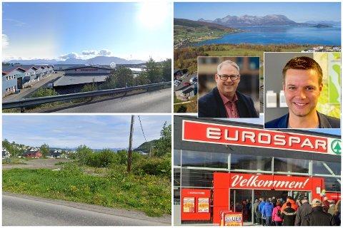 FLERE MULIGHETER: Stangnes, St. Olavsgate eller Mustapartajordet? Det knyttes stor spenning til hvor Eurospar kommer til å etablere sitt nye supermarked i Harstad. F.v: Odd Sverre Holte, Runar Bjørkelund.