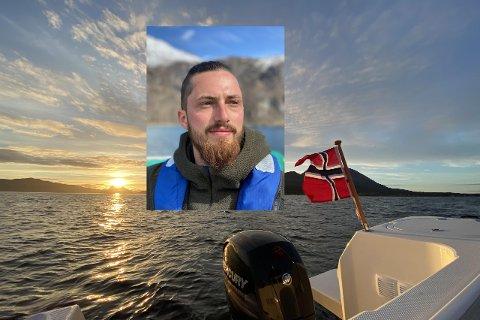 STARTER BEDRIFT: – Jeg ble fascinert av naturen og fjellene da jeg kom hit, men mest av alt havet, sier Hannes Lerke, som starter bedriften Arctic Waters i Harstad.