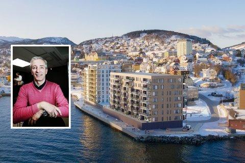 PYNTEN: Ved siden av boligprosjektene Holstneset, Perlen og Harstadhamn kommer nå også Pynten. Til sammen har de 200 leiligheter. Inge Falck Olsen og Barlindhaug samarbeider.