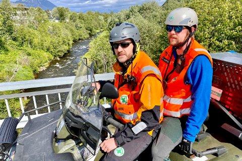 Norsk folkehjelp: Sverre Vigstad og Martin Alapnes fra Norsk folkehjelp ved Bergselva.