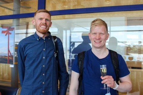 HÅPER PÅ TYSKLAND-TUR: Marius Johansen (f.v.) og Kim-Rune Øverland.
