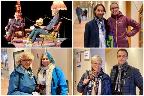 SAMTALE: Under Harstad litteraturfestival sin første dag ble det arrangert forfattersamtale mellom forfatter Lars Saabye Christensen og Bård Borch Michaelsen på scenen i storsalen.