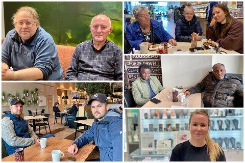 VARIERT: Det var mange delte meninger og engasjerte velgere blant gjestene på Obs-kaféen torsdag.