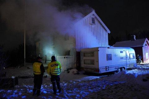 BRANN: Nødetater rykket fredag kveld ut til melding om brann i bolighus på Børsåsen i Levanger.