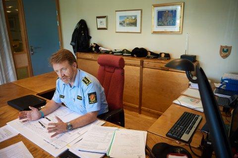 SKAL ANSETTE POLITIKONTAKTER: Politiets enhetsleder på Innherred, Snorre Haugdahl, skal ansette ny politikontakt blant annet i Levanger. Totalt sju personer søkte på jobbene.