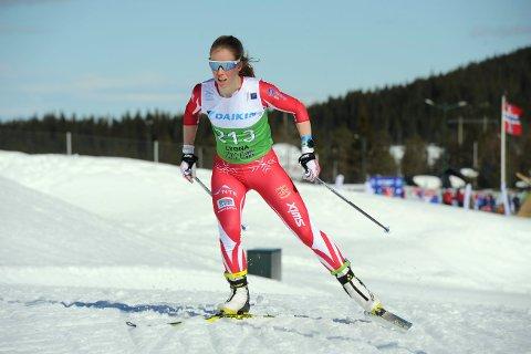 MARKERTE SEG: Anniken Jørgensen gikk kjempebra i to av tre NM-renn i Lygna i april 2019. – Jeg er kjempefornøyd både med løpet og plasseringen. Det var utrolig artig at det klaffet så bra som det gjorde, sa hun etter løpet hvor hun var knappe 50 sekunder etter Therese Johaug.