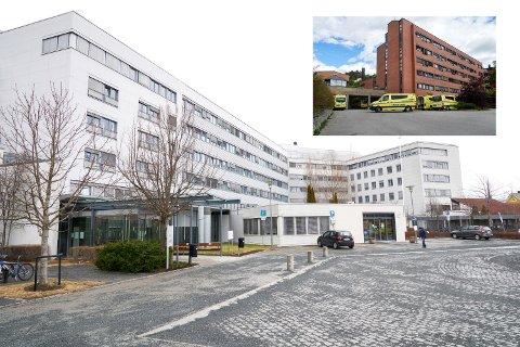 Sykehusene i Levanger og Namsos (innfelt) vil svekkes, frykter forfatterne.