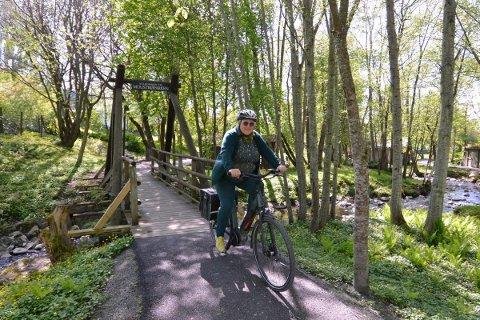 SYKKELDAG: Bjørg Olsrud i MDG inviterer til sykkeldag i Muustrøparken torsdag 3. juni.