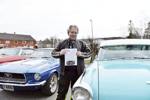 Inviterer til bildag: President Kristian Langseth inviterer til «start of season».FOTO: MARIT REISJAA KARLSEN