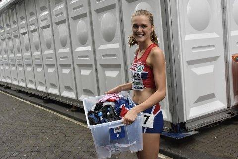 GAME OVER: Ingeborg Løvnes kunne trygt smile fornøyd da hun rundet av sin EM-opptreden i Amsterdam.