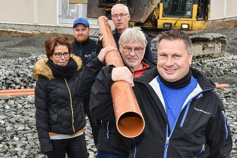 BSF inviterer til dugnadsmøte for nytt klubbhus. Fra venstre: Fia Vestreng, Andreas Høgenes, Jostein Kopperud, Kjell Roar Nygård og Denis Stanger.
