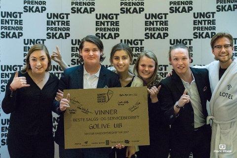 GLADE VINNERE: GoLive UB vant prisen for best salg/service-bedrift i NM.
