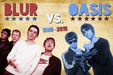 LYDEN AV 1995: Oasis og Blur kjempet om Britpop-tronen på 1990-tallet.