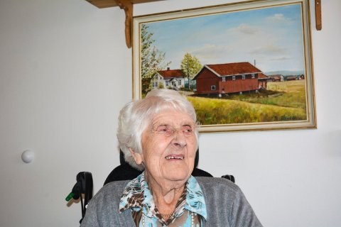 Død: Magnhild Melleby sovnet stille inn natt til søndag.