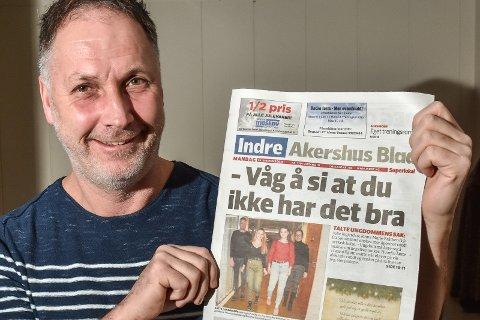 Det er julestri i redaksjonen til redaktør Arne Henrik Vestreng i Indre Akershus Blad.