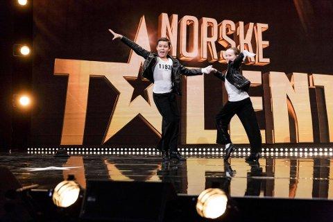 DANSET SEG VIDERE: Edvard Braathen Nes fra Bjørkelangen og Stine Finholth fra Fjellhamar gikk videre til dommerutvelgelsen i Norske talenter.