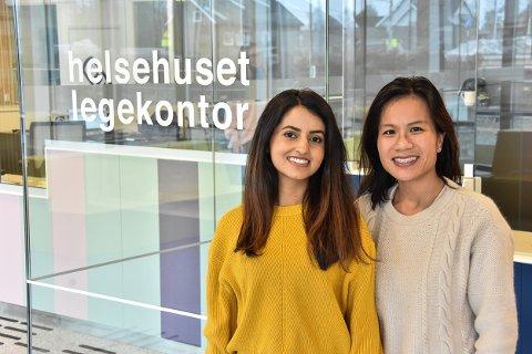 Samreen Abbas (t.v.) og Jenny Chuy Le er de nye fastlegene i Helsehuset legekontor.
