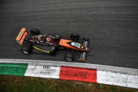 Dennis Hauger fra helgens finaleløp på Monza.