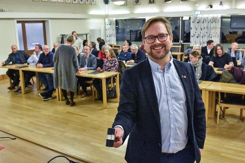 Ordfører Roger Evjen ledet sitt nåværende Aurskog-Høland kommunes siste kommunestyremøte.