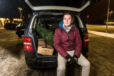 Hjalp mange: Morten Rognan i Julehjelpen i Aurskog-Høland.