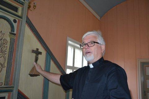 Runo Lilleaasen har vært sogneprest på Rømskog i 17 år.