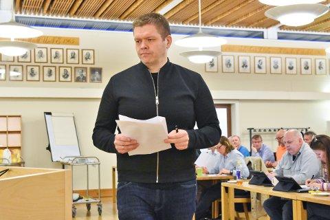 Rune Skansen (KrF) i kommunestyret.