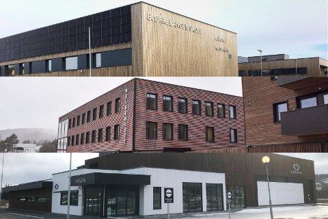 Suksess: Bjørkelangen skole (øverst) Helsehuset og Bjørkebadet (nederst) har vært gode prosjekter for Aurskog-høland kommune.
