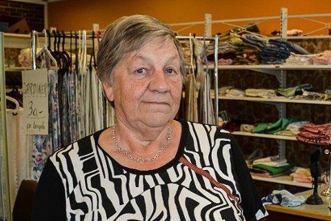 Kasserer i jubileumsåret, Randi Lillehol, har hatt den oppgaven uavbrutt i 42 år, siden 1977. Foto: Anne Enger Mjåland