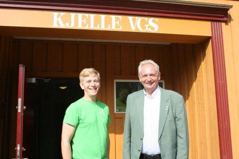 KJELLE ER VIKTIG: Ordførerkandidatene, Thor Christian Grosås (t.v.) for Lillestrøm kommune og Gudbrand Kvaal for Aurskog-Høland kommune, er begge enige i at Kjelle videregående skole er en viktig skole.