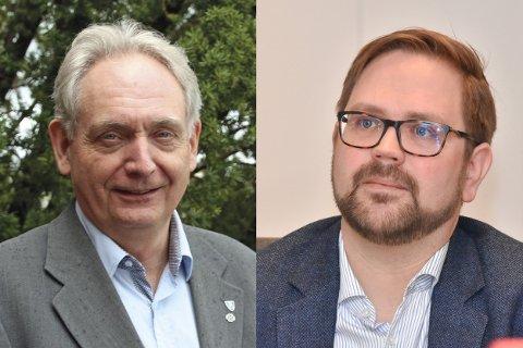 Fredag kan velgerne i nye Aurskog-Høland kommune få vite hvem som blir ordfører de fire neste årene. Blir det Gudbrand Kvaal (t.v.) eller Roger Evjen?