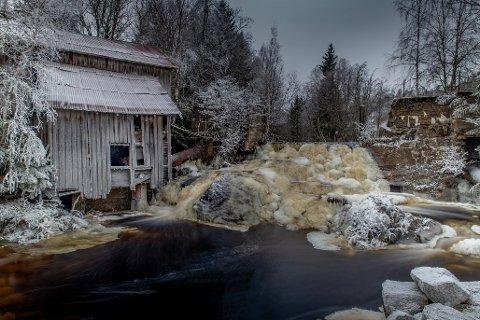 VANT: Kay Tangen vant Aurskog-Høland kommunes fotokonkurranse med dette bildet av Lokshaugfossen.