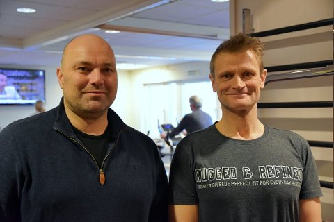 Are Hansen (t.v.) fra Aurskog har startet samarbeid med Vidar Heggen i Askim. Foto: Camilla Hjelmeseth