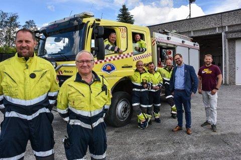 Mannskapet ved Løken brannstasjon gleder seg til bedre arbeidsforhold – nå er jobben med å bygge ny brannstasjon lagt ut på anbud. Arkivfoto: Øyvind Henningsen