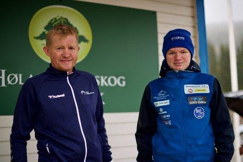 LÆREMESTER OG ELEV: Landslagstrener Pål Anders Ullevålseter (t.v.) ble imponert over lørdagens kjøring av Benjamin Glestad Bernhus.